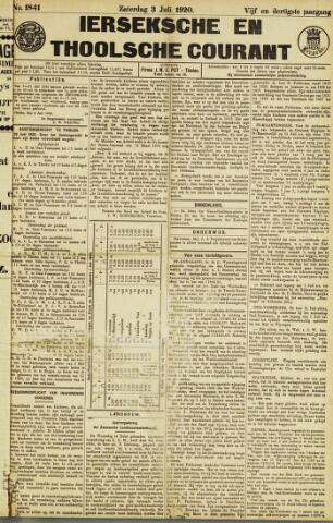 Ierseksche en Thoolsche Courant 1920-07-03