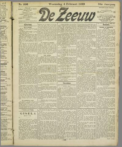 De Zeeuw. Christelijk-historisch nieuwsblad voor Zeeland 1920-02-04