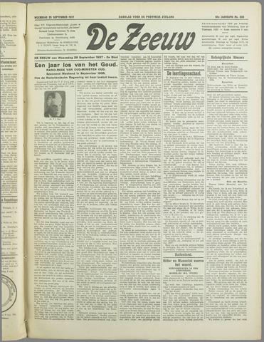 De Zeeuw. Christelijk-historisch nieuwsblad voor Zeeland 1937-09-29