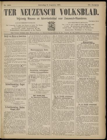 Ter Neuzensch Volksblad. Vrijzinnig nieuws- en advertentieblad voor Zeeuwsch- Vlaanderen / Zeeuwsch Nieuwsblad. Nieuws- en advertentieblad voor Zeeland 1917-08-11