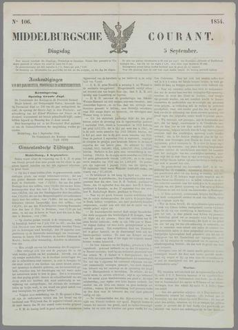 Middelburgsche Courant 1854-09-05