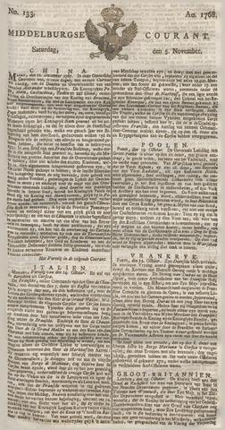 Middelburgsche Courant 1768-11-05