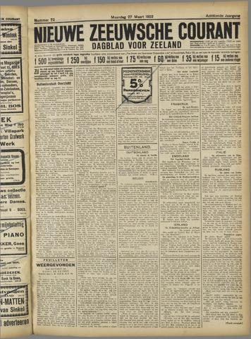 Nieuwe Zeeuwsche Courant 1922-03-27