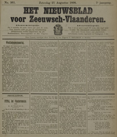 Nieuwsblad voor Zeeuwsch-Vlaanderen 1898-08-27
