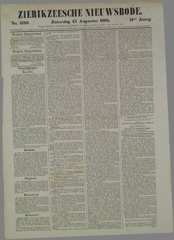 Zierikzeesche Nieuwsbode 1885-08-15