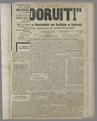 """""""Vooruit!""""Officieel Nieuws- en Advertentieblad voor Overflakkee en Goedereede 1916-11-11"""