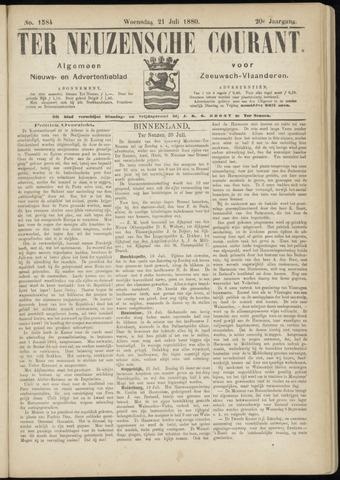 Ter Neuzensche Courant. Algemeen Nieuws- en Advertentieblad voor Zeeuwsch-Vlaanderen / Neuzensche Courant ... (idem) / (Algemeen) nieuws en advertentieblad voor Zeeuwsch-Vlaanderen 1880-07-21