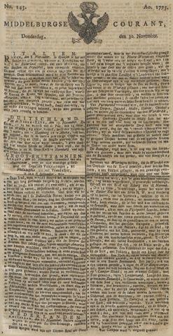 Middelburgsche Courant 1775-11-30