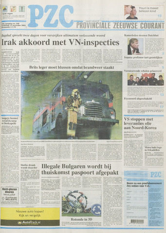 Provinciale Zeeuwse Courant 2002-11-14