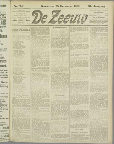 De Zeeuw. Christelijk-historisch nieuwsblad voor Zeeland 1916-12-28