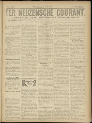 Ter Neuzensche Courant. Algemeen Nieuws- en Advertentieblad voor Zeeuwsch-Vlaanderen / Neuzensche Courant ... (idem) / (Algemeen) nieuws en advertentieblad voor Zeeuwsch-Vlaanderen 1928-07-04