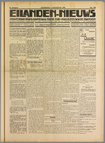 Eilanden-nieuws. Christelijk streekblad op gereformeerde grondslag 1936-08-01