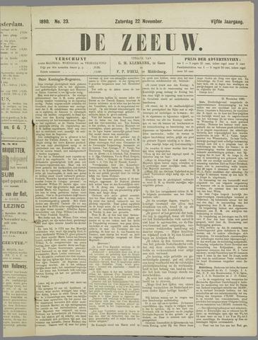 De Zeeuw. Christelijk-historisch nieuwsblad voor Zeeland 1890-11-22