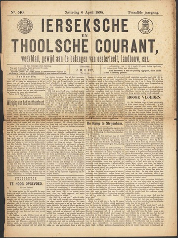 Ierseksche en Thoolsche Courant 1895-04-06