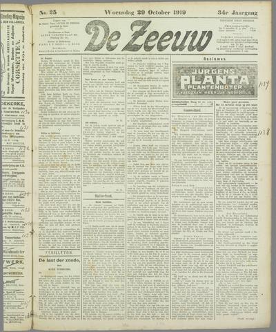 De Zeeuw. Christelijk-historisch nieuwsblad voor Zeeland 1919-10-29