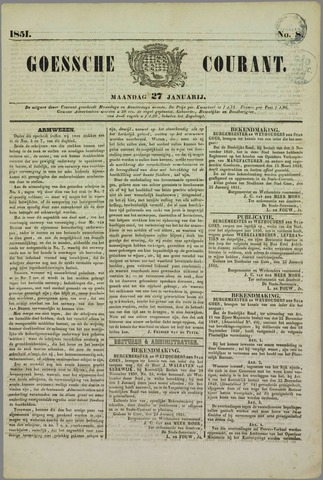Goessche Courant 1851-01-27