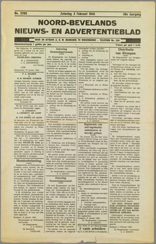 Noord-Bevelands Nieuws- en advertentieblad 1945-02-03