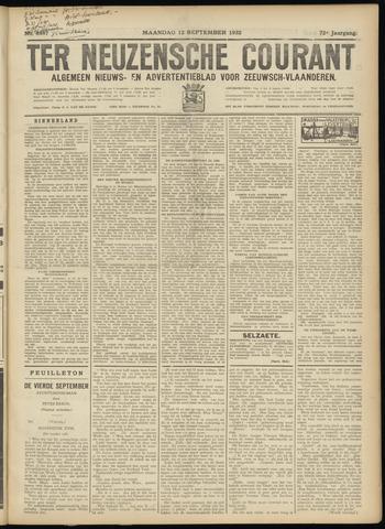 Ter Neuzensche Courant. Algemeen Nieuws- en Advertentieblad voor Zeeuwsch-Vlaanderen / Neuzensche Courant ... (idem) / (Algemeen) nieuws en advertentieblad voor Zeeuwsch-Vlaanderen 1932-09-12