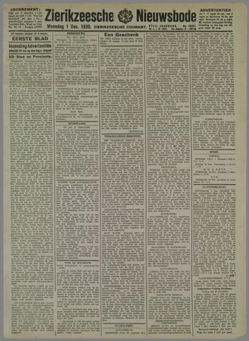 Zierikzeesche Nieuwsbode 1930-12-01