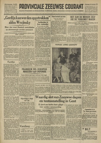 Provinciale Zeeuwse Courant 1950-10-24