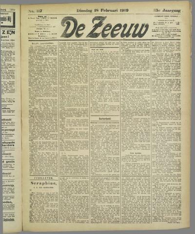 De Zeeuw. Christelijk-historisch nieuwsblad voor Zeeland 1919-02-18