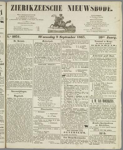 Zierikzeesche Nieuwsbode 1863-09-09