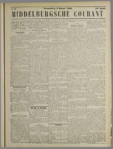 Middelburgsche Courant 1919-03-05
