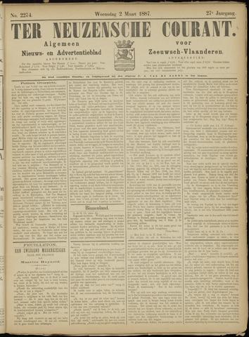 Ter Neuzensche Courant. Algemeen Nieuws- en Advertentieblad voor Zeeuwsch-Vlaanderen / Neuzensche Courant ... (idem) / (Algemeen) nieuws en advertentieblad voor Zeeuwsch-Vlaanderen 1887-03-02