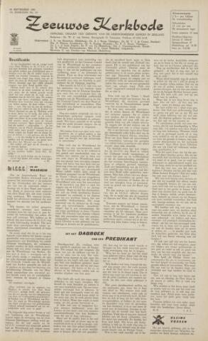 Zeeuwsche kerkbode, weekblad gewijd aan de belangen der gereformeerde kerken/ Zeeuwsch kerkblad 1962-09-28