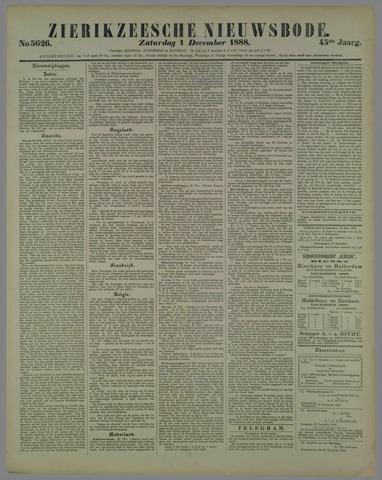 Zierikzeesche Nieuwsbode 1888-12-01