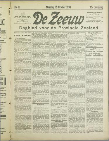De Zeeuw. Christelijk-historisch nieuwsblad voor Zeeland 1930-10-13