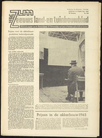 Zeeuwsch landbouwblad ... ZLM land- en tuinbouwblad 1965-02-19
