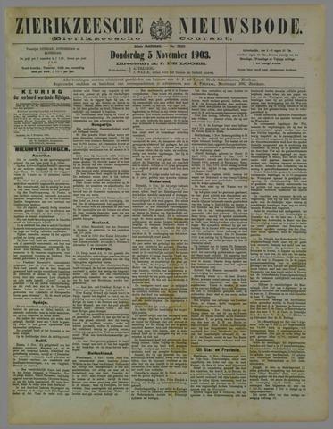 Zierikzeesche Nieuwsbode 1903-11-05