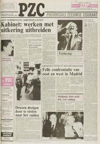 Provinciale Zeeuwse Courant 1983-09-08