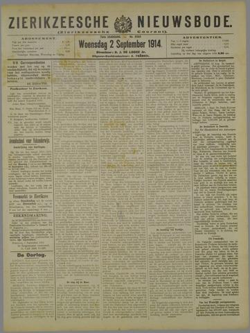 Zierikzeesche Nieuwsbode 1914-09-02