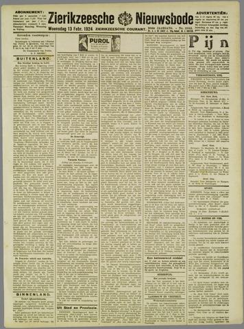 Zierikzeesche Nieuwsbode 1924-02-13
