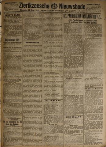 Zierikzeesche Nieuwsbode 1921-09-19