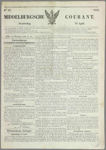 Middelburgsche Courant 1855-04-19