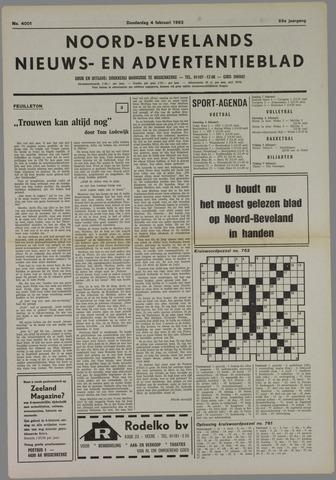Noord-Bevelands Nieuws- en advertentieblad 1982-02-04