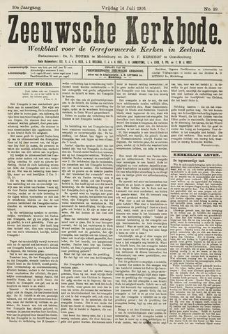 Zeeuwsche kerkbode, weekblad gewijd aan de belangen der gereformeerde kerken/ Zeeuwsch kerkblad 1916-07-14