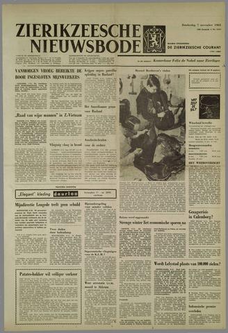 Zierikzeesche Nieuwsbode 1963-11-07