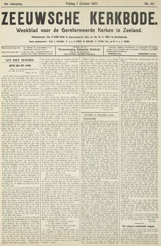 Zeeuwsche kerkbode, weekblad gewijd aan de belangen der gereformeerde kerken/ Zeeuwsch kerkblad 1927-10-07