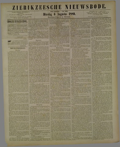 Zierikzeesche Nieuwsbode 1889-08-06