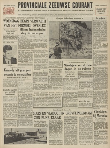 Provinciale Zeeuwse Courant 1962-08-14