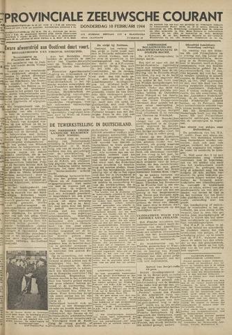 Provinciale Zeeuwse Courant 1944-02-10