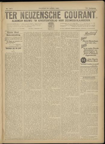 Ter Neuzensche Courant. Algemeen Nieuws- en Advertentieblad voor Zeeuwsch-Vlaanderen / Neuzensche Courant ... (idem) / (Algemeen) nieuws en advertentieblad voor Zeeuwsch-Vlaanderen 1931-04-24