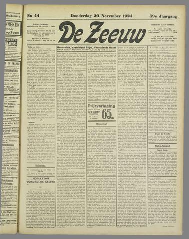 De Zeeuw. Christelijk-historisch nieuwsblad voor Zeeland 1924-11-20