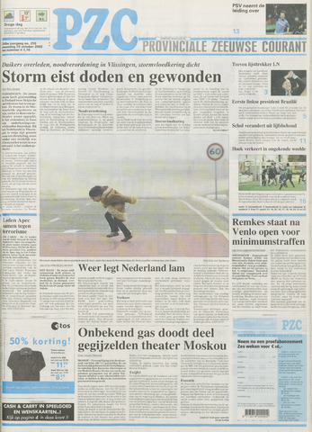 Provinciale Zeeuwse Courant 2002-10-28