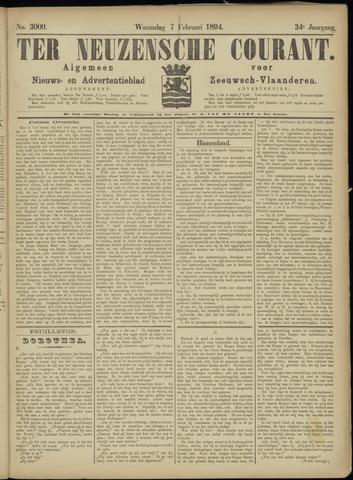 Ter Neuzensche Courant. Algemeen Nieuws- en Advertentieblad voor Zeeuwsch-Vlaanderen / Neuzensche Courant ... (idem) / (Algemeen) nieuws en advertentieblad voor Zeeuwsch-Vlaanderen 1894-02-07