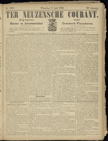 Ter Neuzensche Courant. Algemeen Nieuws- en Advertentieblad voor Zeeuwsch-Vlaanderen / Neuzensche Courant ... (idem) / (Algemeen) nieuws en advertentieblad voor Zeeuwsch-Vlaanderen 1889-04-17
